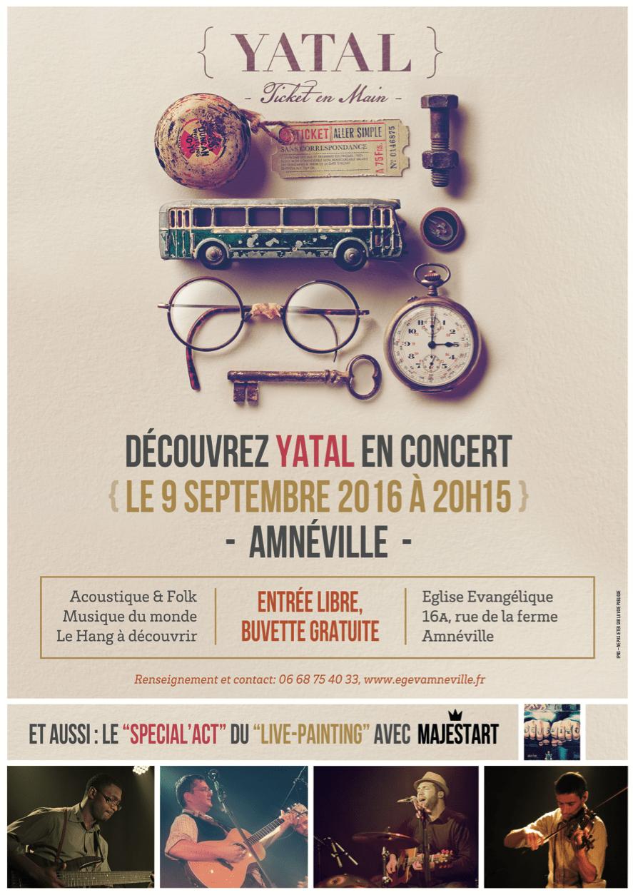 Concert affiche Yatal & Majestart
